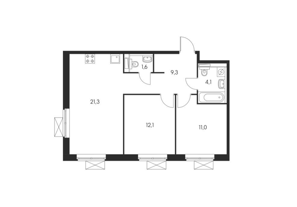 Планировки блок 1 корпус 1.1