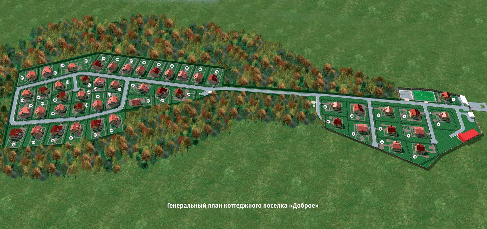Схема строительства коттеджного поселка