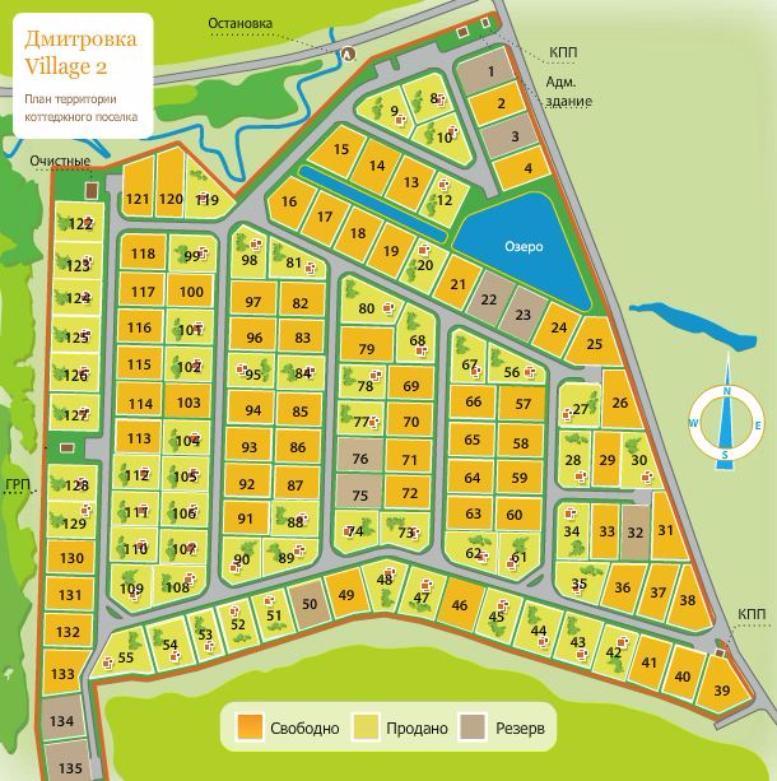КП «Дмитровка Village 2» (Дмитровка Вилладж 2) генплан №1